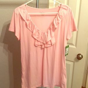 Lilly Pulitzer Rosalee Top in Pink